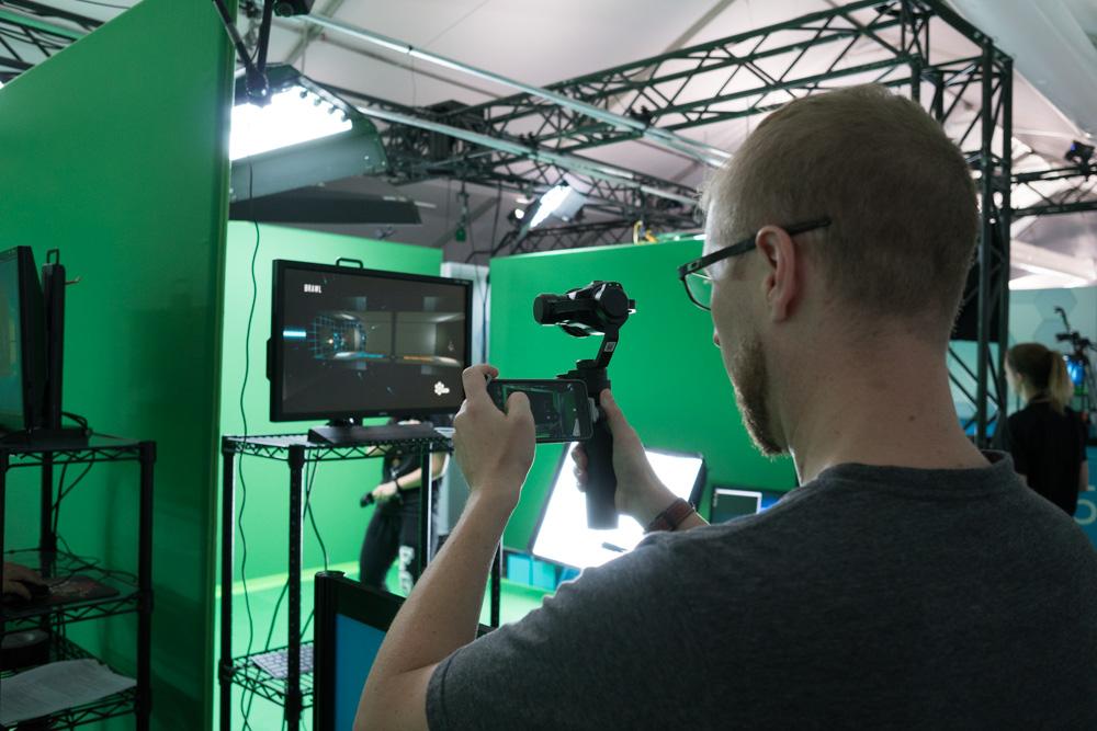 Using DJI OSMO camera.